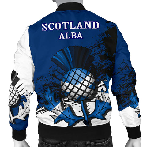 Abercrombie Crest Scottish Thistle Scotland Men's Bomber Jacket | Clothing | 1stscotland