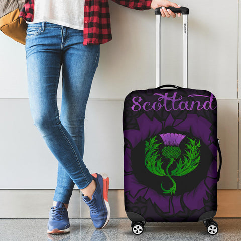 Scotland Luggage Covers - Celtic Thistle Purple A24