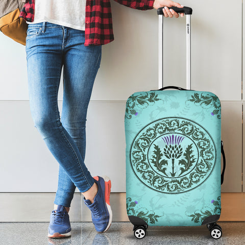 Green Thistle - Luggage Covers | Special Custom Design