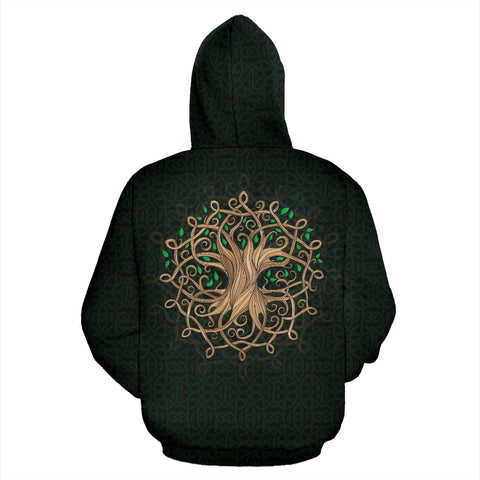 Luxurious Celtic Tree Zipper Hoodie