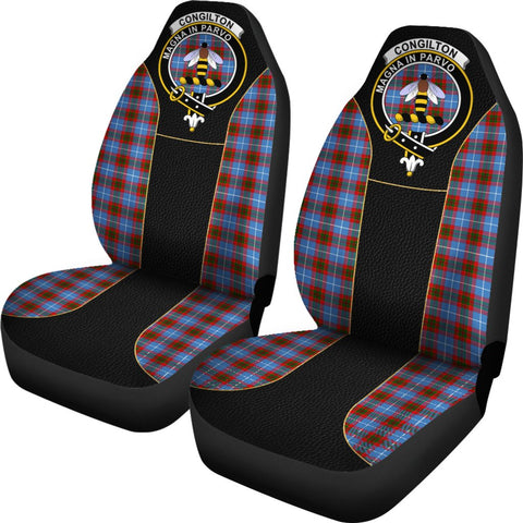 Tartan Car Seat Cover, Congilton Clan Badge Special Version Scottish Car Seat Cover A9