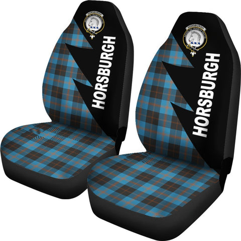 Tartan Car Seat Cover, Horsburgh Clans Flash Style - Scottish Car Seat Cover A9