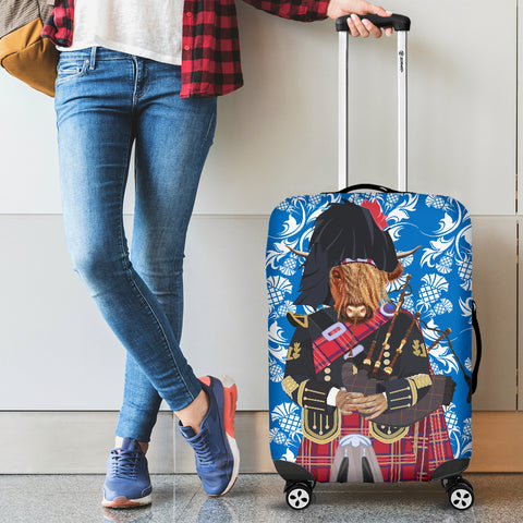 Image of Heilan Coo & Bag Pipe - Luggage Cover | Hot Sale