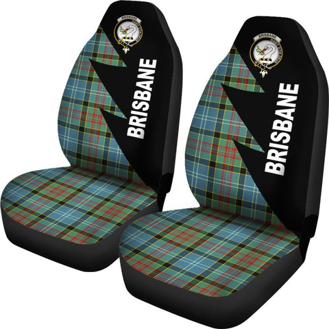 Tartan Car Seat Cover, Brisbane Clans Flash Style - Scottish Car Seat Cover A9