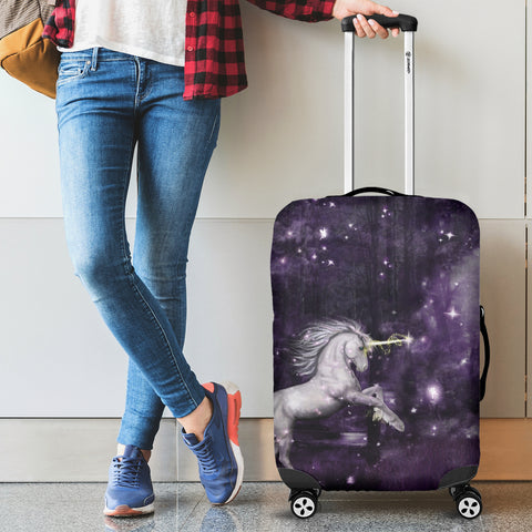 Image of Unicorn In Night - Scotland Luggage Cover | Special Custom Design