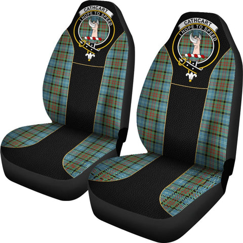 Tartan Car Seat Cover, Cathcart Clan Badge Special Version Scottish Car Seat Cover A9