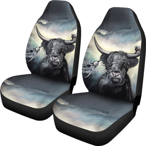 Image of Highland Cow - Scotland Car Seat Cover | Hot Sale