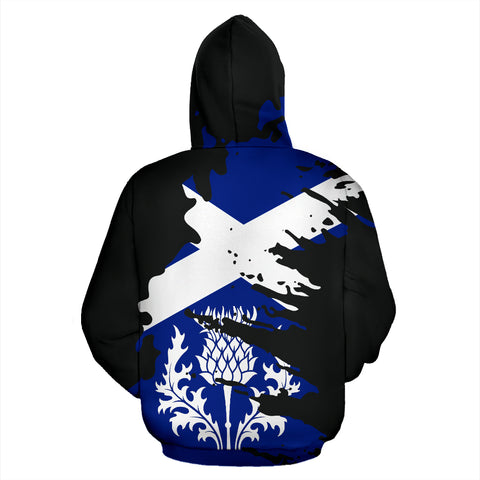 Scotland Thistle Painting Zipper Hoodie