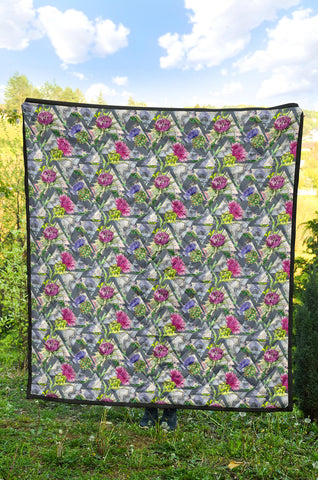 Scottish Thistle 14th Pattern Premium Quilt
