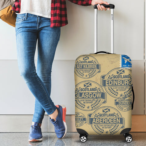 Image of Travel Stamp 02 - Scotland Luggage Cover | Special Custom Design