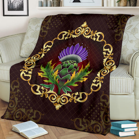 Image of Scotland Premium Blanket - Thistle Special Gold A24