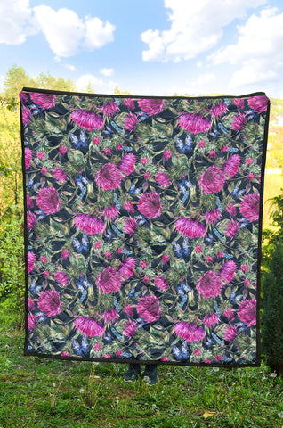 Scotland Premium Quilt - Scottish Thistle 17th Pattern