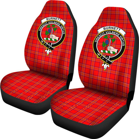 Burnett Tartan Car Seat Covers - Clan Badge