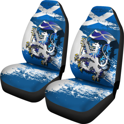 Scottish Rampant Lion Holding The Flag Car Seat Covers