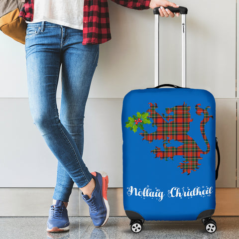 Nollaig Chridheil Lion - Scotland Luggage Cover | Special Custom Design