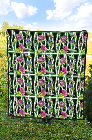 Image of Scottish Thistle 11th Pattern Premium Quilt