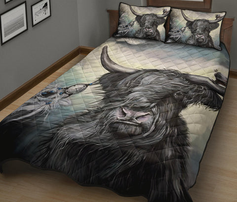 Image of Scotland Quilt Bed Set - Highland Cow | Love Scotland