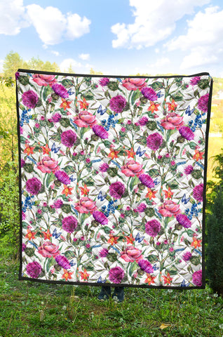 Scottish Thistle 18th Pattern Premium Quilt