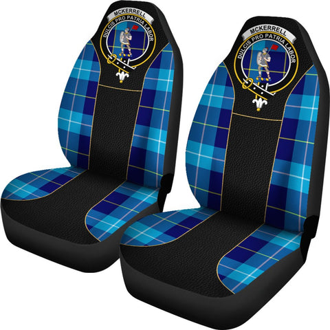 Tartan Car Seat Cover, Mckerrell Clan Badge Special Version Scottish Car Seat Cover A9