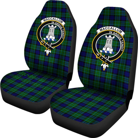Maccallum Tartan Car Seat Covers Clan Badge