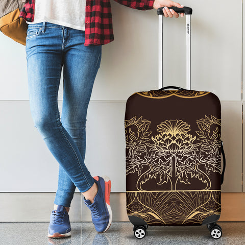 Thistle Pattern - Luggage Cover | Special Custom Design