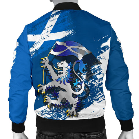 Scottish Rampant Lion Holding The Flag Men's Bomber Jacket