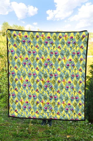 Scottish Thistle 10th Pattern Premium Quilt
