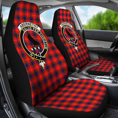 Tartan Car Seat Cover, Abernethy Clan Badge Scottish Car Seat Cover A9