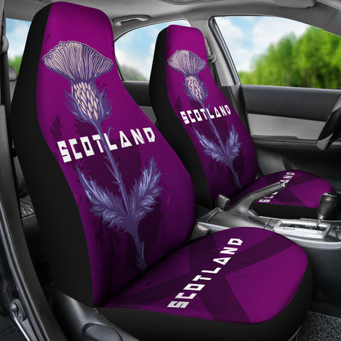 Purple Scottish Thistle Special Seat Covers (Set of 2) | Love Scotland
