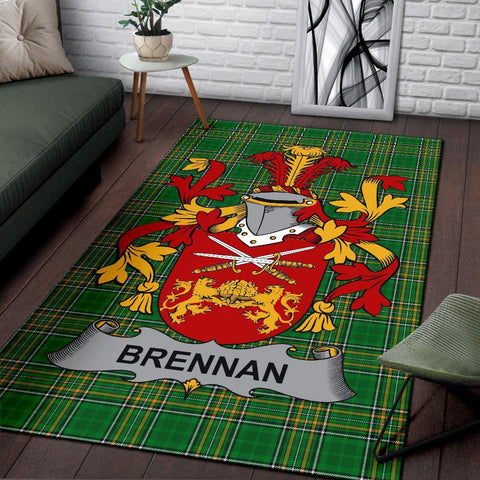 Brennan or O'Brennan Ireland Area Rug Irish National Tartan Irish Family Crest | Over 1400 Crests | Home Set | Home Decor