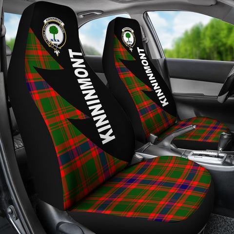 Tartan Car Seat Cover, Kinninmont Clans Flash Style - Scottish Car Seat Cover A9