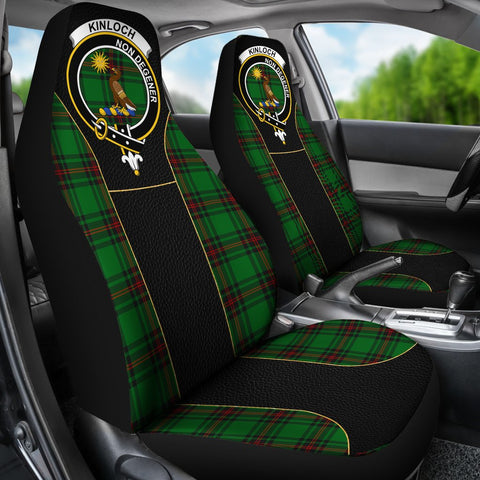 Tartan Car Seat Cover, Kinloch Clan Badge Special Version Scottish Car Seat Cover A9
