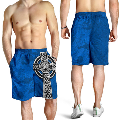 Celtic Cross Lion - Scottish Blue AOP Men's Shorts | Love Scotland