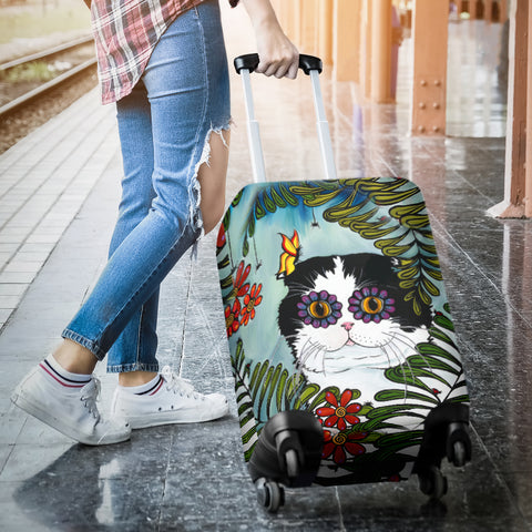 Hiding Scottish Fold Cat - Luggage Cover | HOT Sale
