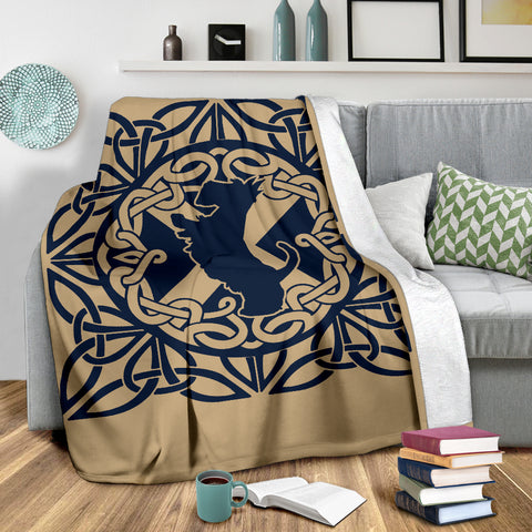 Celtic Scottish Terrier Premium Blanket | Love Scotland