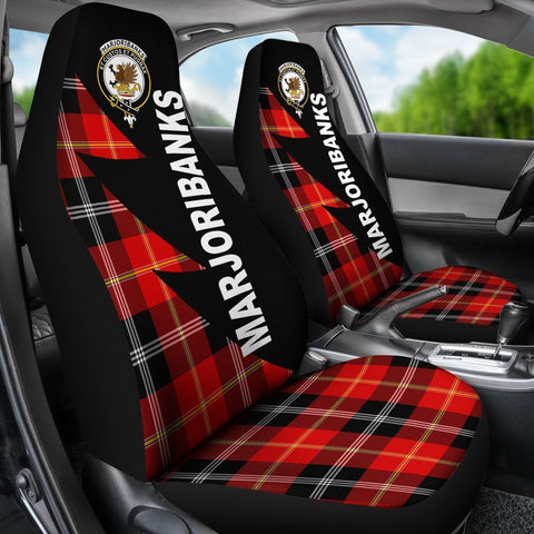 Tartan Car Seat Cover, Marjoribanks Clans Flash Style - Scottish Car Seat Cover A9