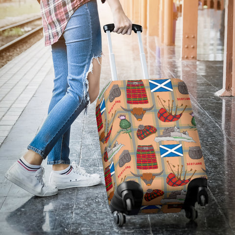 Scotland Symbols - Luggage Cover | Special Custom Design