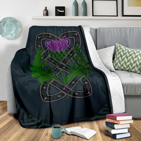 Celtic Myth Thistle Premium Blanket | Love Scotland