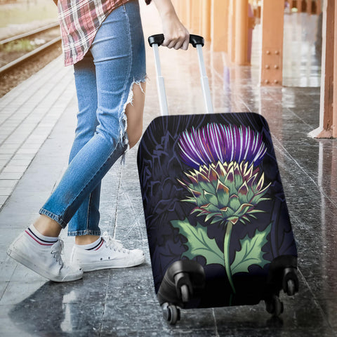 Luxury Purple Thistle - Scotland Luggage Covers | Love Scotland