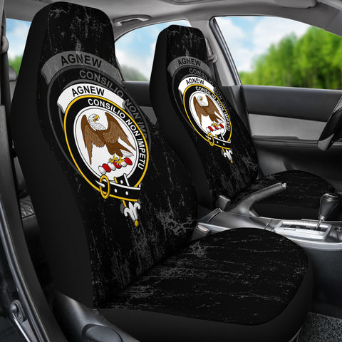 Agnew Crest Car Seat Cover (Set of Two) | Over 300 Clans