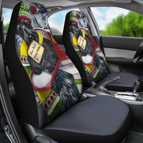 Christmas Scottie Letter For Santa - Car Seat Cover (Set Of 2)  | HOT SALE
