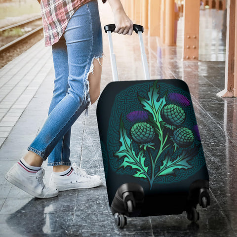 Beautiful Thistle and Celtic - Scotland Luggage Covers | Love Scotland