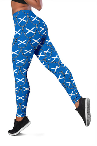 Scotland Flag And Chains Pattern Legging