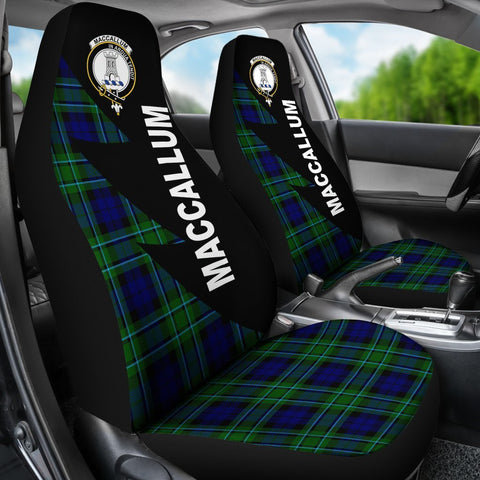 Tartan Car Seat Cover, MacCallum Clans Flash Style - Scottish Car Seat Cover A9