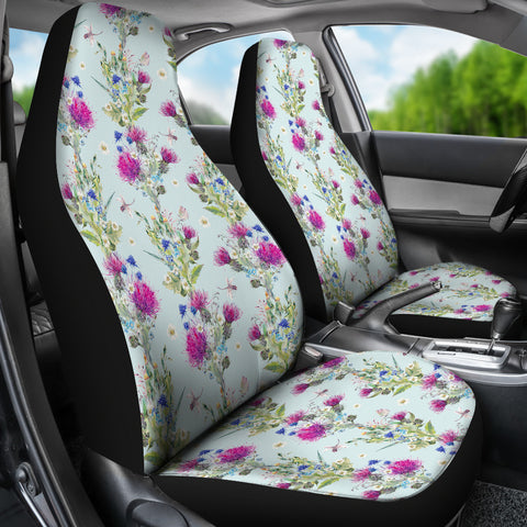 Scottish Thistle Pattern 3rd Car Seat Covers