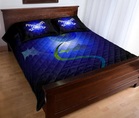 Scotland Quilt Bed Set - Thistle Celtic Blue A02 | Love Scotland