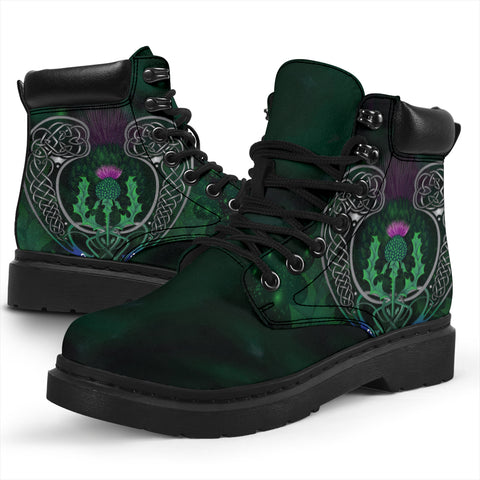 Scotland All-Season Boots - Celtic Thistle Green | Love Scotland