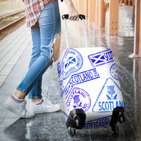 Image of Travel Stamp 03 - Scotland Luggage Cover | Special Custom Design