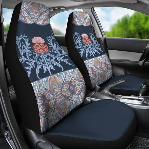 Scotland Car Seat Covers - Scottish Thistle Purple Edition | Hot Sale