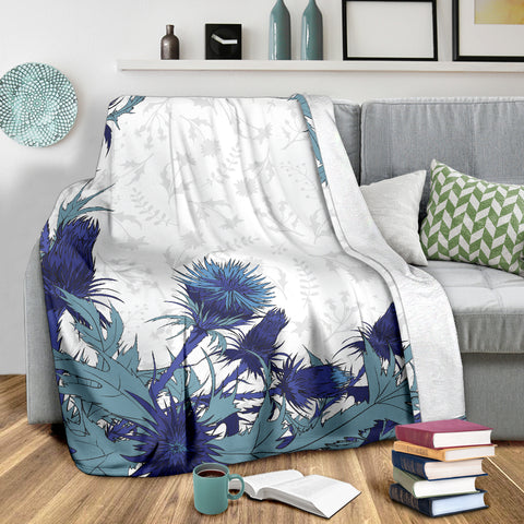 Love Scotland | Blue Thistle Premium Blanket